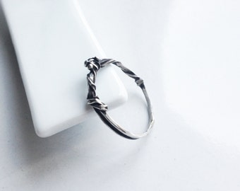 "V04-Ring ""Branch"", Sterling Silver, fine and delicate."