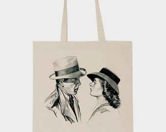 Tote bag Casablanca Humphrey Bogart Ingrid Bergman Rick's