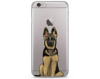 German Shepherd iPhone 6s case, Custom illustrated dog iPhone Case, Hand Drawn dog iPhone Case, iPhone 7 case, iPhone 7 plus case