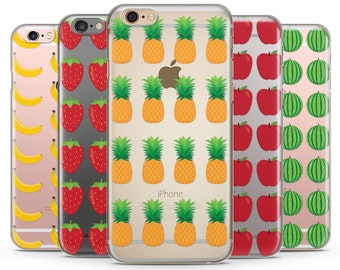 Fruits clear iPhone Case, iPhone 6 plus clear case, Transparent iPhone Case, iphone 7 case, iphone 7 plus case