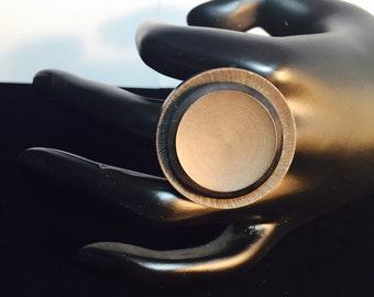 Repurposed Vintage Button Ring