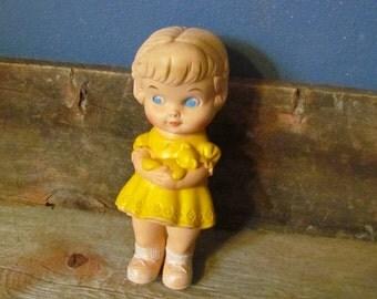 Vintage 1962 Edward Mobley Rubber Toy Squeak Doll
