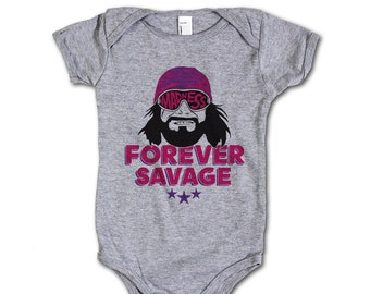 Macho Man Pro Wrestling Officially Onesie 3M-24M Randy Savage Forever P
