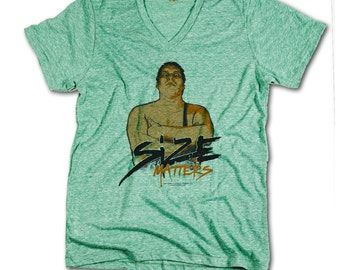 Andre Roussimoff Pro Wrestling Officially Licensed V-Neck Mens XS-2XL Andre the Giant B
