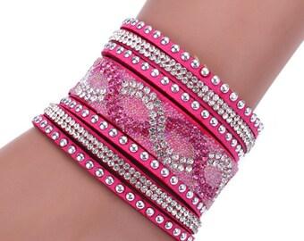 Free shipping Fashion purely handmade crystal bracelet,bling wrist lanyard,rhinestone gift lanyard,diamante promotion bracelet lanyard