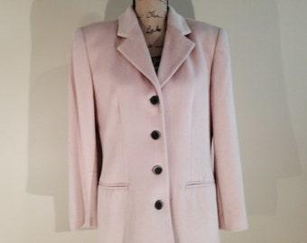 Vintage Carlisle Pink Angora Wool Jacket, 1980's