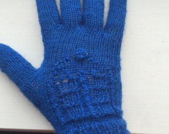 Dr Who Tardis inspired gloves