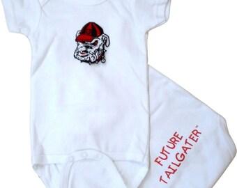 Georgia Bulldog Future Tailgater Baby Bodysuit