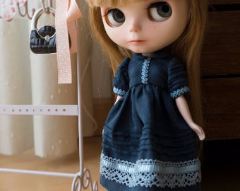 Dress for Blythe of linen fabric.