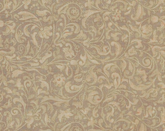 Curiosity Scroll (Olive) by Quilting Treasures Cotton Fabrics