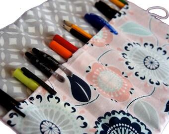 Pen Case, Adult Coloring pencil case, Floral