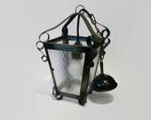 Vintage pendant lamp, outdoor light, outdoor lamp, vintage hanging lamp, iron pendant lamp, iron outdoor light, glass outdoor lamp