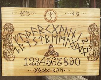 Woodburn Nordic/Runic Ouija Board