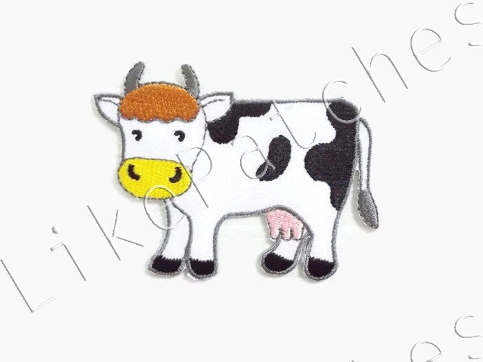 Cow animal farm new sew iron on patch embroidered applique