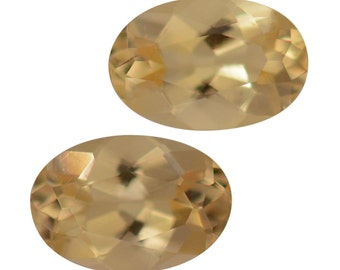 Marialite Loose Gemstones Oval Cut Set of 2 1A Quality 6x4mm TGW 0.65 cts.