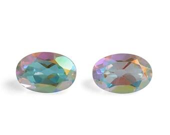 Mystic Mercury Topaz Oval Cut Loose Gemstones Set of 2 1A Quality 6x4mm TGW 0.95 cts.