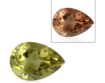 Alexite Autumn Synthetic Color Change Gemstone Pear Cut 1A Quality 10x7mm TGW 1.75 cts.