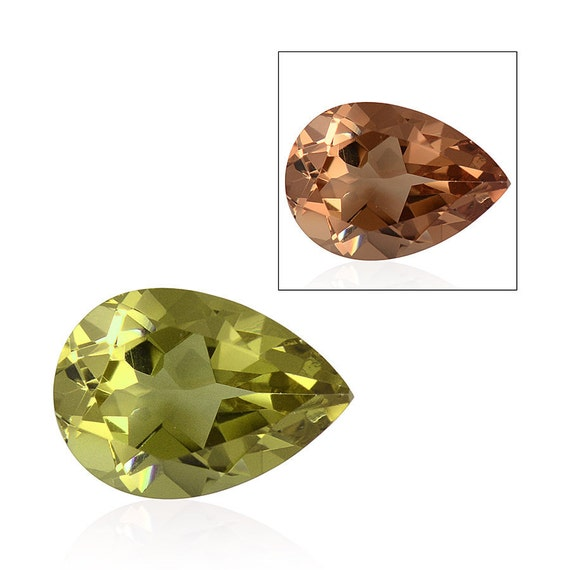 alexite autumn synthetic color change gemstone pear cut 1a