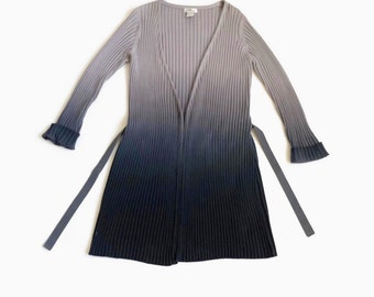 90's Ribbed Ombré Open Front Cardigan Duster