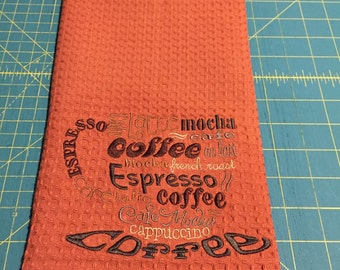 Coffee Lovers Cup Kitchen Tea Towel