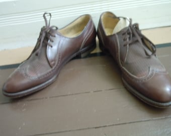 Incredible 1940s Brown Two Tone Spectator Dress Shoes -- Size 8 D