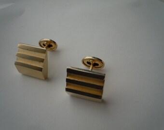1930s Gold Art Deco Cuff Links