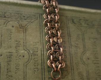 Chain Bracelet, Copper Link Bracelet, Bike Chain Bracelet, Copper Bracelet, Copper Bike Chain Bracelet, Copper Wire Chain Bracelet (#1494)