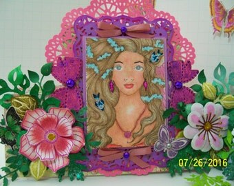 Decorative display card