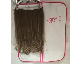 Hair extension case etsy halo hair extensions flip in clip in wig hair hangers hangerz storage pmusecretfo Image collections