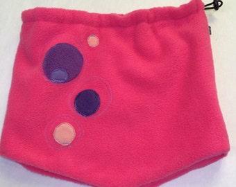 Neck warmer for pink children, children pass winter, children pass, neck warmer