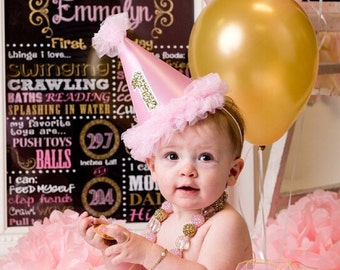 SALE Pink and Gold Chalkboard / Pink Gold Glitter Chalkboard/ Girl First Birthday Chalkboard/ Pink and Gold Chalkboard / Digital file only*