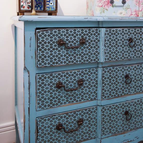Amira tuile pochoir tuile de mosa que marocaine meuble sol for Pochoir pour meuble