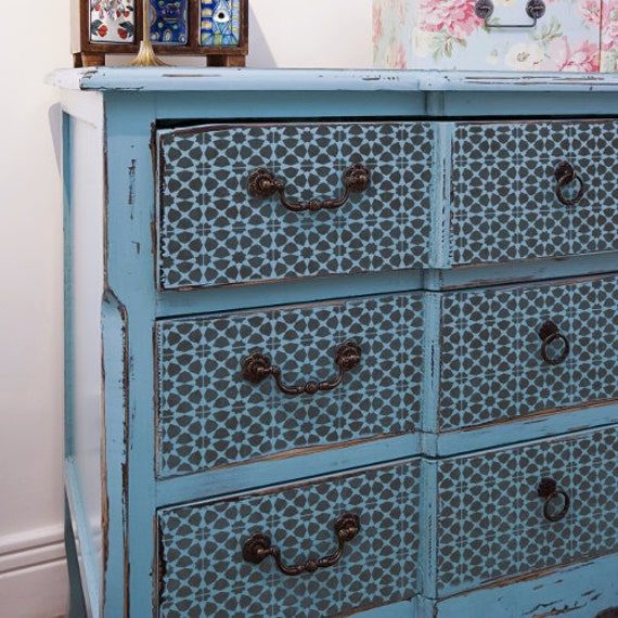 Amira tuile pochoir tuile de mosa que marocaine meuble sol for Pochoirs meubles