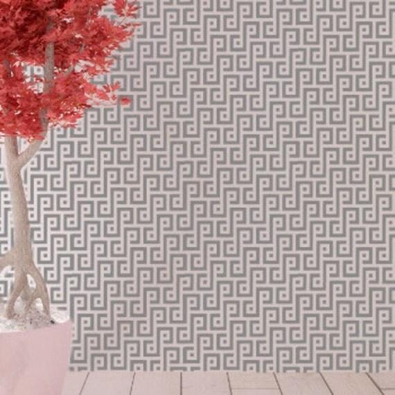 Sahara mural pochoir stencil g om trique par for Pochoir geometrique