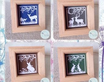 Woodland animals papercut designs