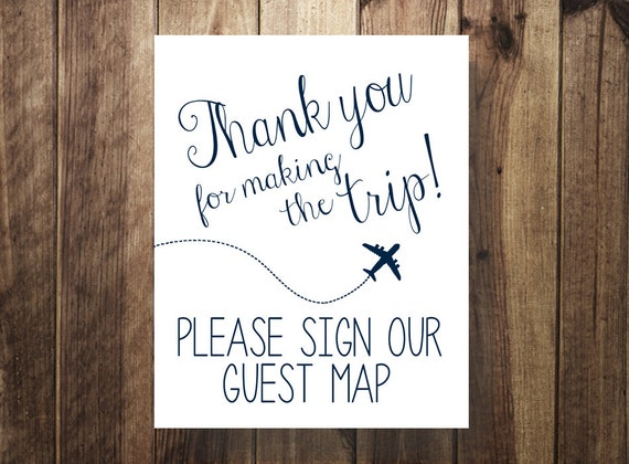navy please sign our guest map thanks for making trip