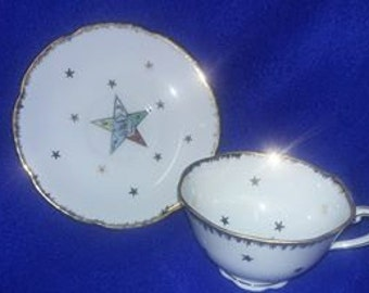 Lefton China Cup and Saucer, Order of the Eastern Star (OES)