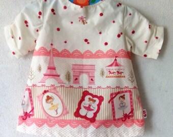 """Girl Mod Dress, """"Cute Little Ballerinas"""" Print Cotton Shift Dress, Tunic"""