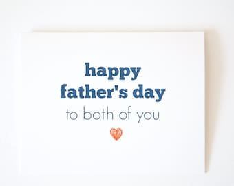 Gay Father's Day / Both My Dads / Father's Day Card