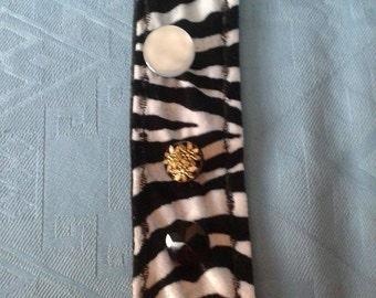 Zebra Print Fabric Cuff