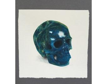 Crystal Skull Watercolor