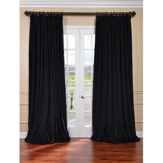 black velvet custom made curtains all size by tailor2u on etsy