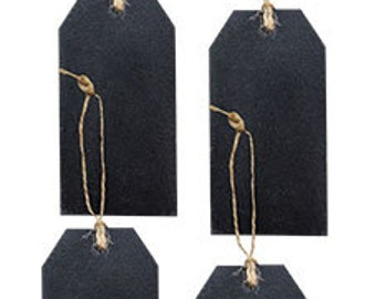 Chalkboard Tags w/ Jute Hanger - Set of 4