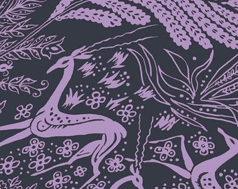 VOILE - Bright Heart Collection Oh Deer in Purple by Amy Butler for Free Spirit Fabrics 4208
