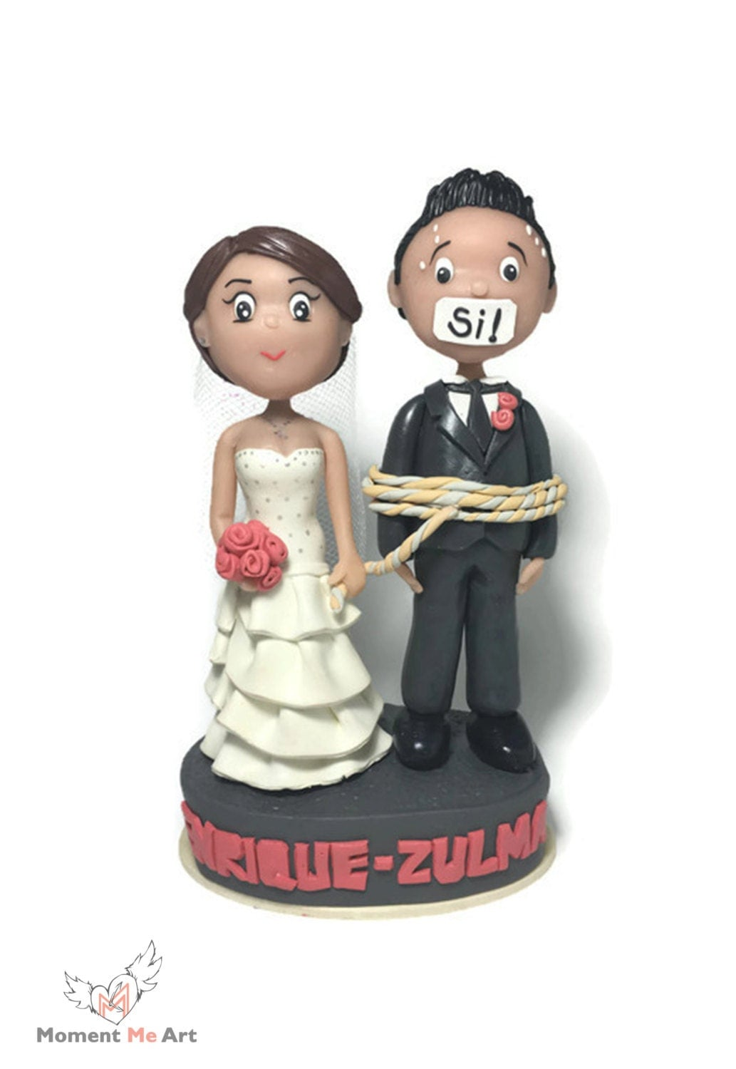 custom cake topper for wedding bride and groom cake topper