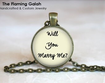 Will You MARRY ME Pendant • Marriage Proposal • Suprise Proposal • Marry Me • Valentines • Gift Under 20 • Made in Australia (P1214)