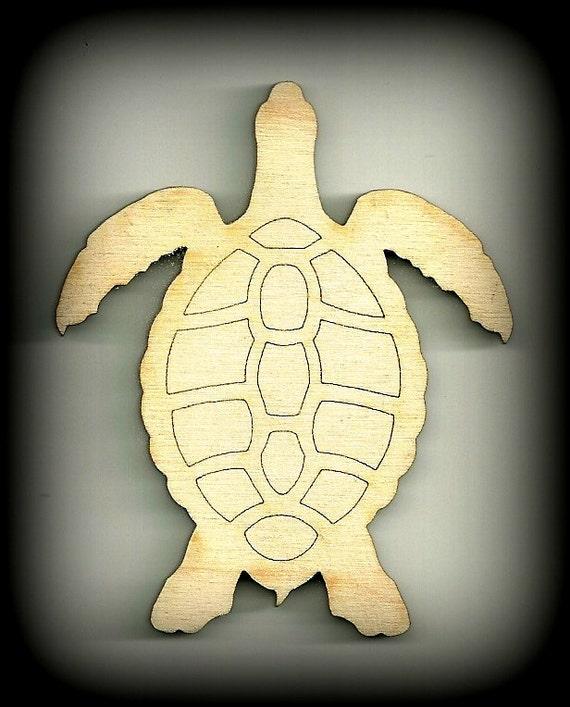 Sea Turtle Shape, Honu Craft, Outlines, Hawaii, Baby