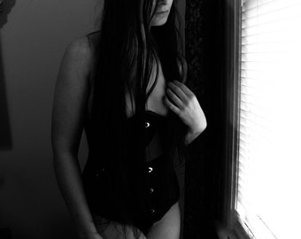 Black Corset (untitled) - Art Self Portrait - 8x10 signed photo print
