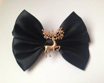 Harry Potter Hair Bow Stag Patronus Cute Gold Golden Animal