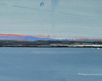 EVENING HEADLAND RHOSCOLYN. Original Acrylic Landscape Painting.